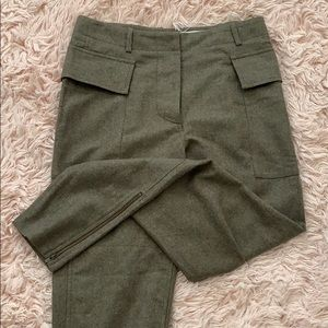 Stella Mcartney women's khaki wool trouser size 38